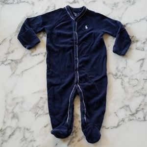 Navy Blue Baby Footed, Size 6 Months